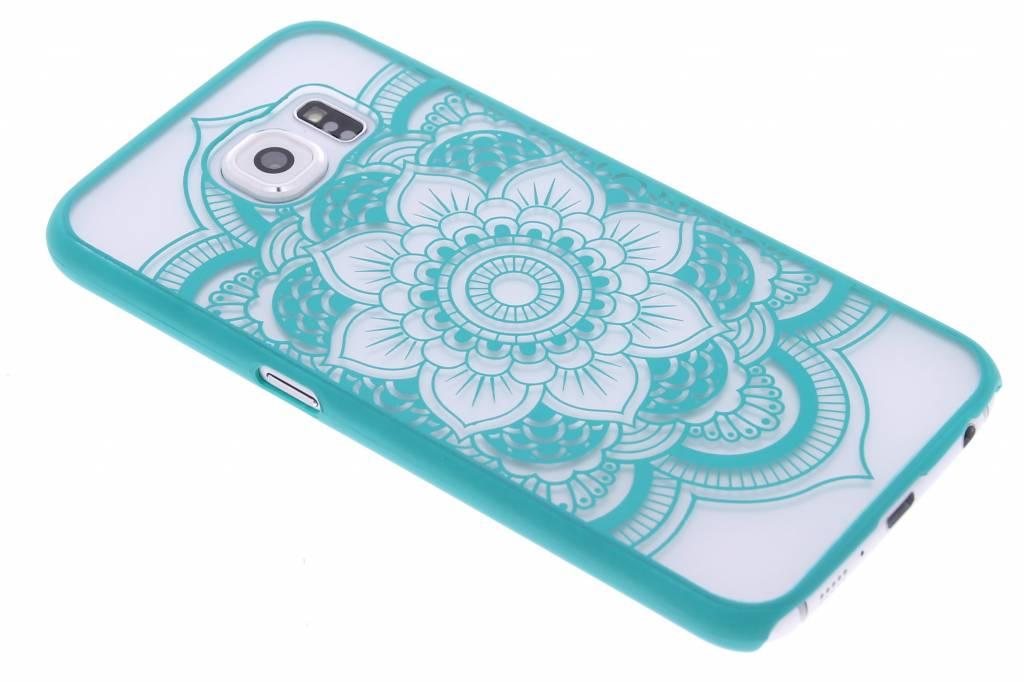 Turquoise mandala mat hardcase hoesje voor de Samsung Galaxy S6