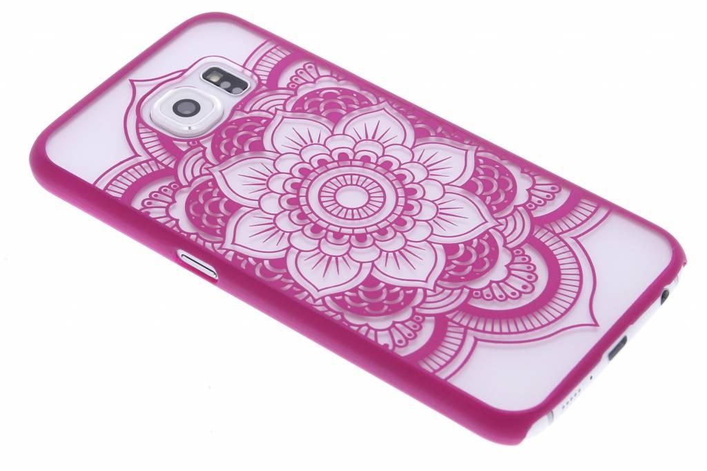 Fuchsia mandala mat hardcase hoesje voor de Samsung Galaxy S6