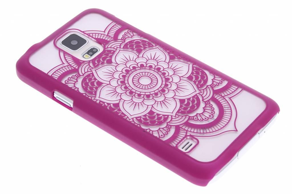 Fuchsia mandala mat hardcase hoesje voor de Samsung Galaxy S5 (Plus) / Neo
