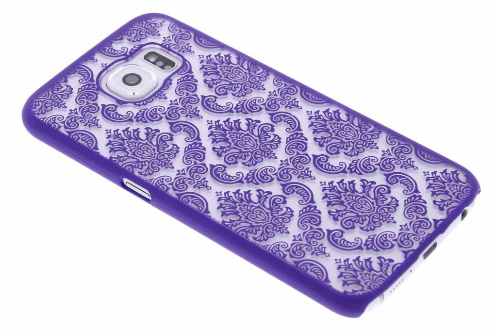 Paars barok mat transparant hardcase hoesje voor de Samsung Galaxy S6