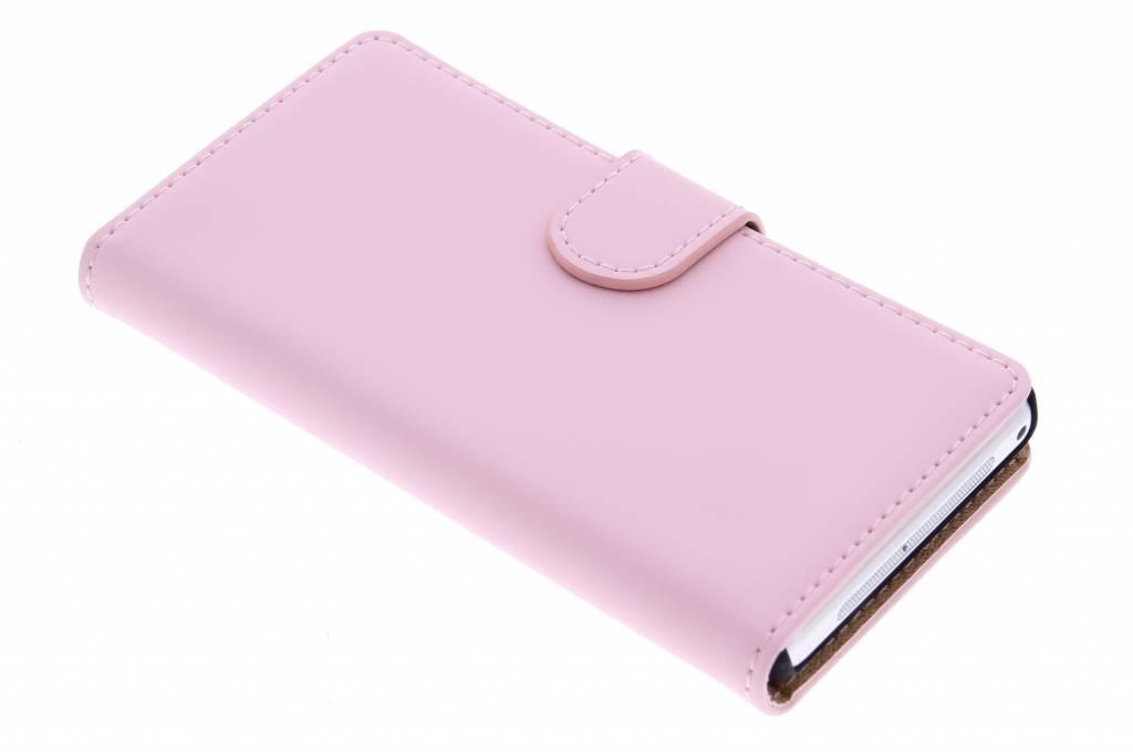 Selencia Luxe Book Case voor de Sony Xperia Z1 Compact - Poederroze