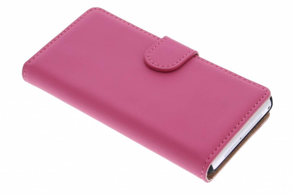 Selencia Luxe Book Case voor de Sony Xperia Z1 Compact - Fuchsia
