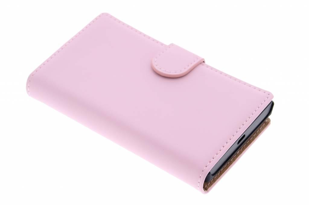 Selencia Luxe Book Case voor de Microsoft Lumia 435 - Poederroze