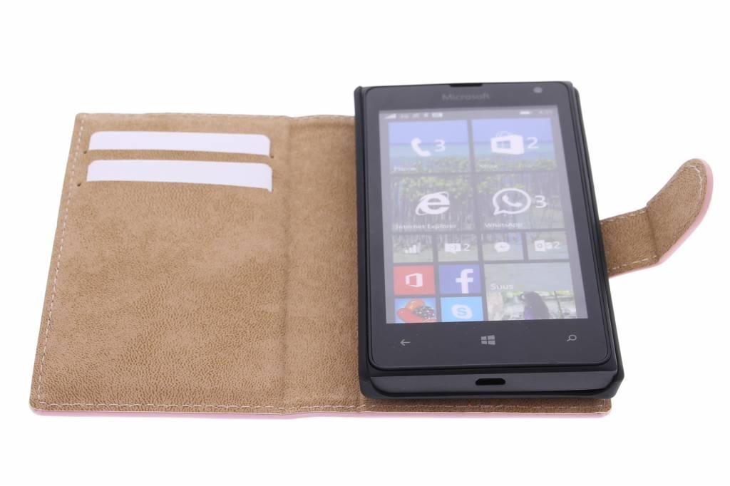 Bibliothèque De Luxe Pour Microsoft Lumia 532 - Poudre Rose FevALS2IAc