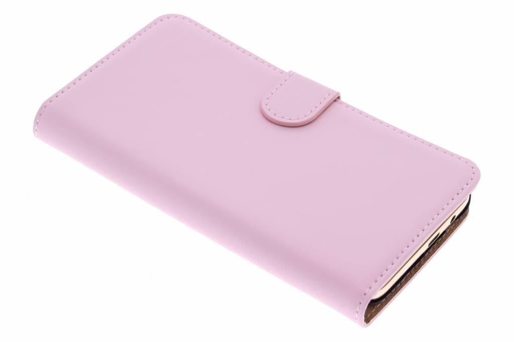 Selencia Luxe Book Case voor de HTC One M9 Plus - Poederroze