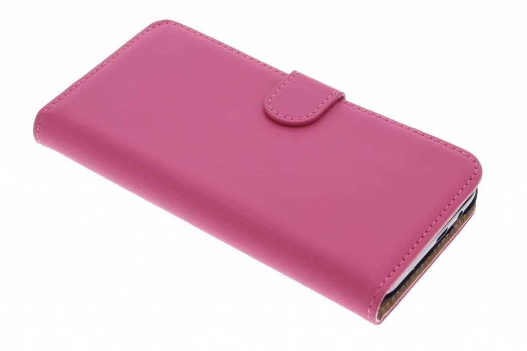 Selencia Luxe Book Case voor de HTC One M9 Plus - Fuchsia