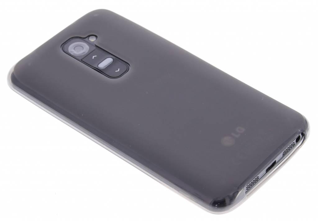 Grijs hard siliconen hoesje voor de LG G2
