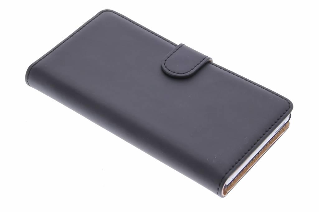 Selencia Luxe Book Case voor de Sony Xperia M4 Aqua - Zwart