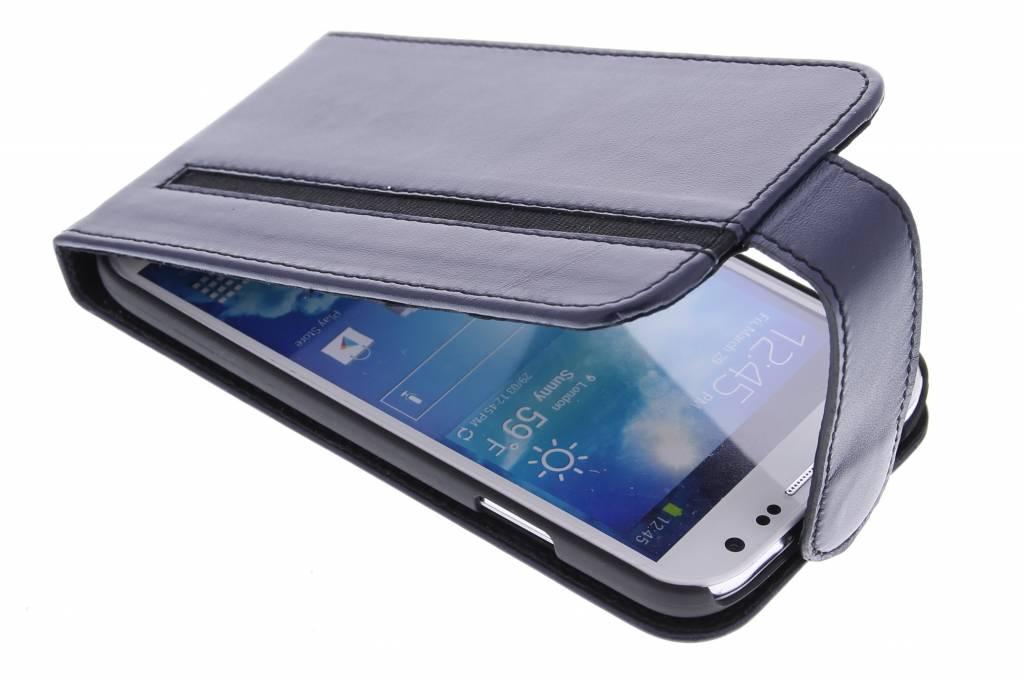 Valenta Stripe flipcase voor de Samsung Galaxy S4 - Blue