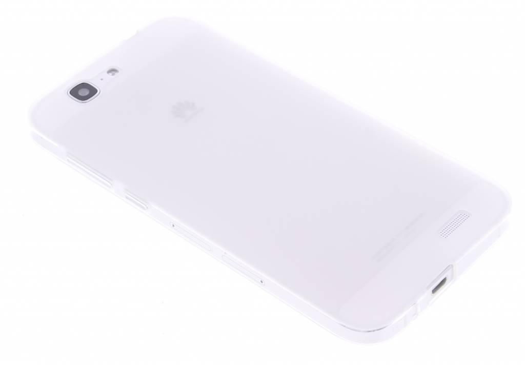 Wit hard siliconen hoesje voor de Huawei Ascend G7