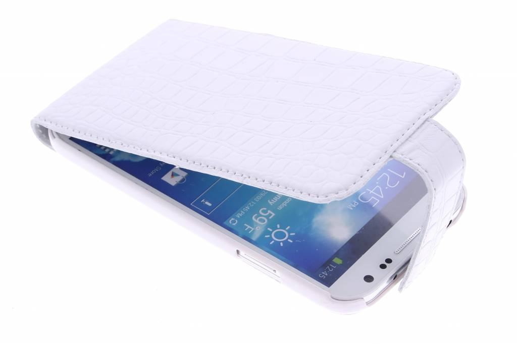 Valenta Flip Malta voor de Samsung Galaxy S4 - Croco White