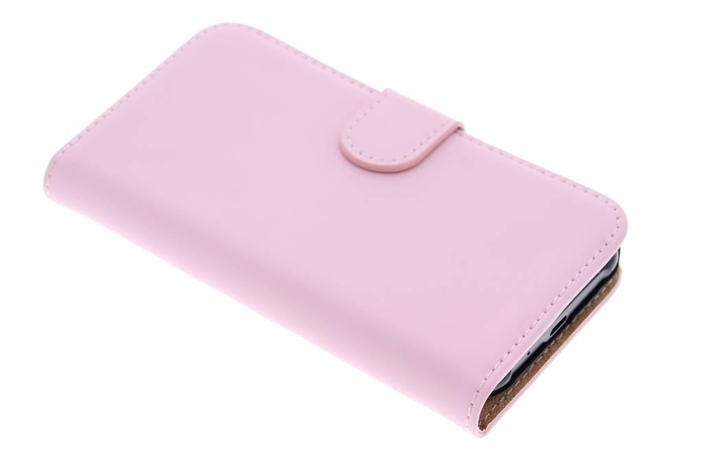 Selencia Luxe Book Case voor de Samsung Galaxy J1 - Poederroze