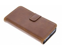 Luxe leder booktype iPhone 5 / 5s / SE