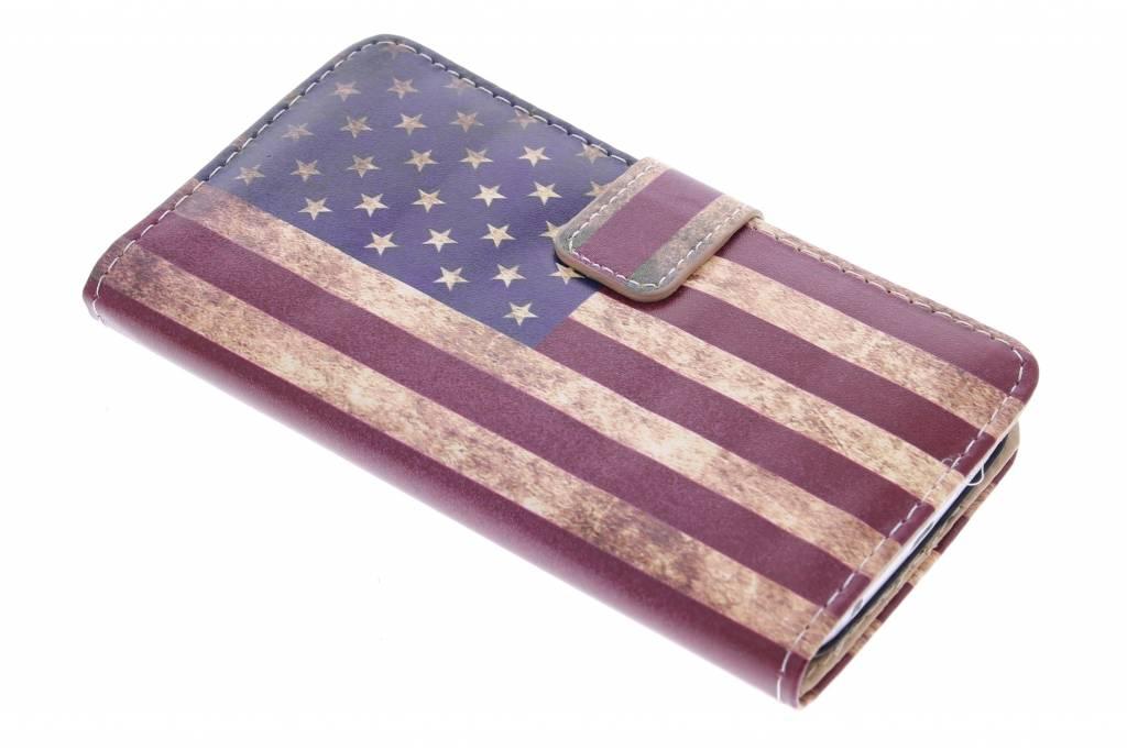 Amerikaanse vlag design booktype hoes voor de Samsung Galaxy S6 Edge