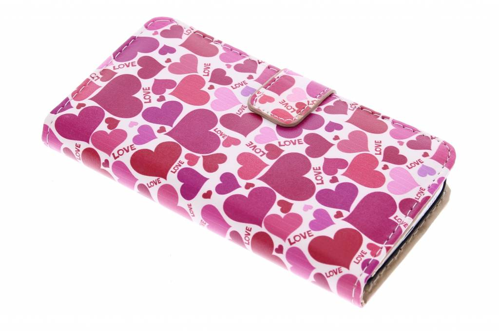 Love design booktype hoes voor de Samsung Galaxy S6 Edge