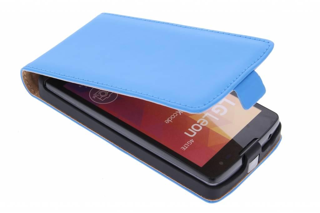 Selencia Luxe Flipcase voor de LG Leon - blauw