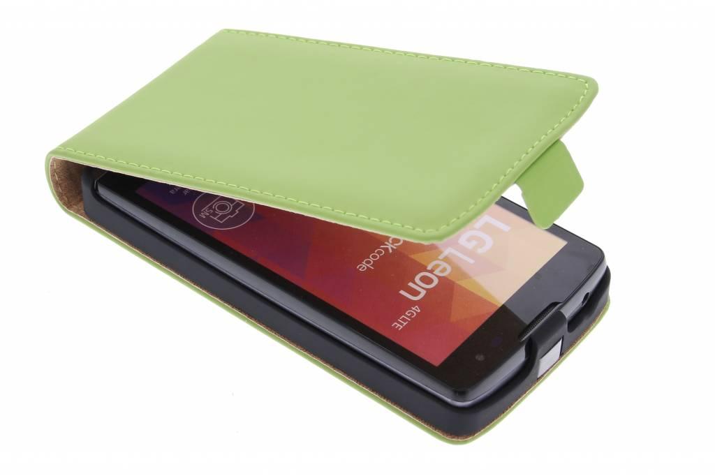 Selencia Luxe Flipcase voor de LG Leon - groen