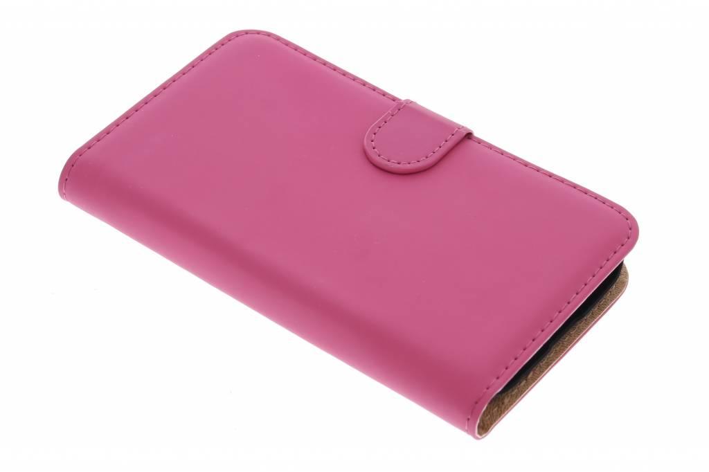 Selencia Luxe Book Case voor de Alcatel One Touch Pop C7 - fuchsia