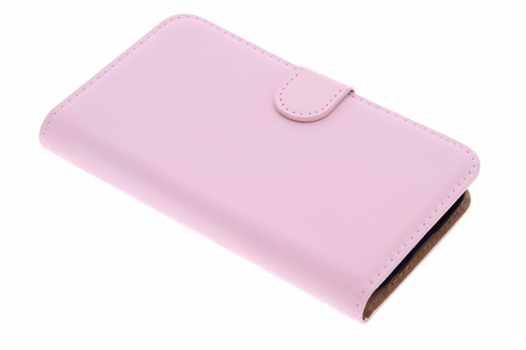 Selencia Luxe Book Case voor de Alcatel One Touch Pop C7 - poederroze