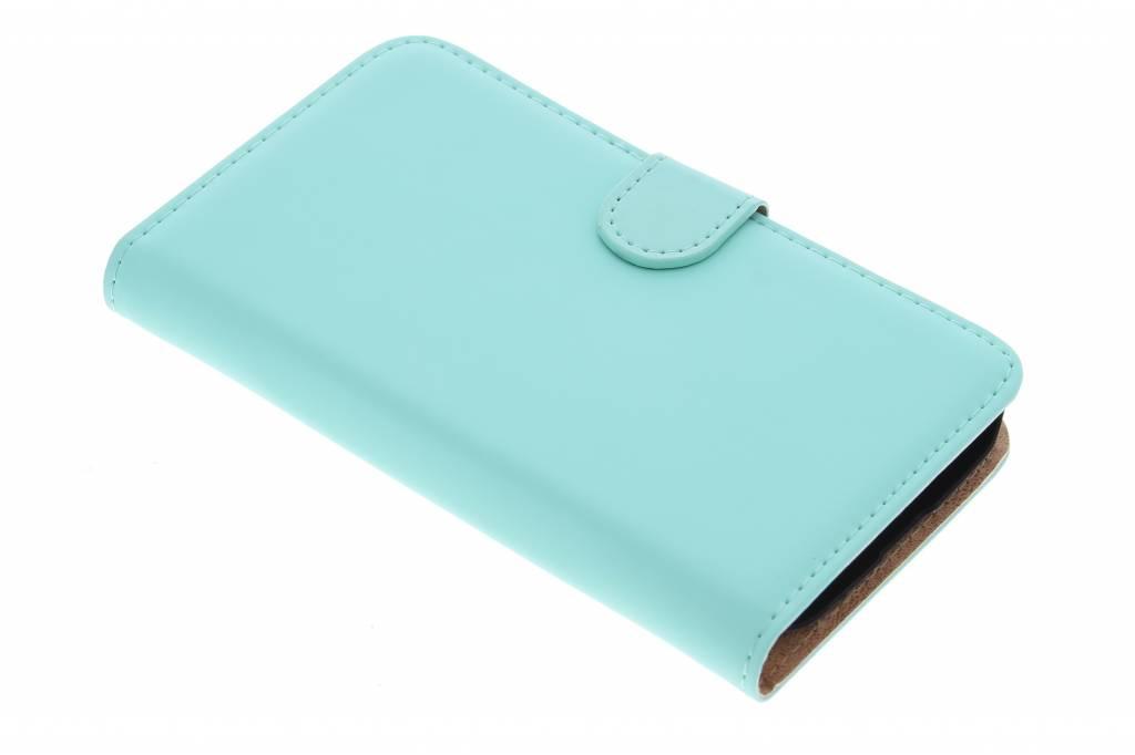 Selencia Luxe Book Case voor de Alcatel One Touch Pop C7 - mintgroen