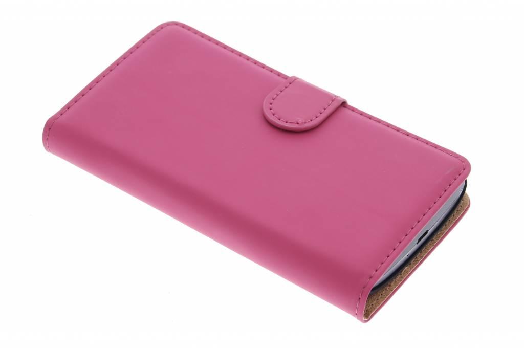 Selencia Luxe Book Case voor de LG Leon - Fuchsia