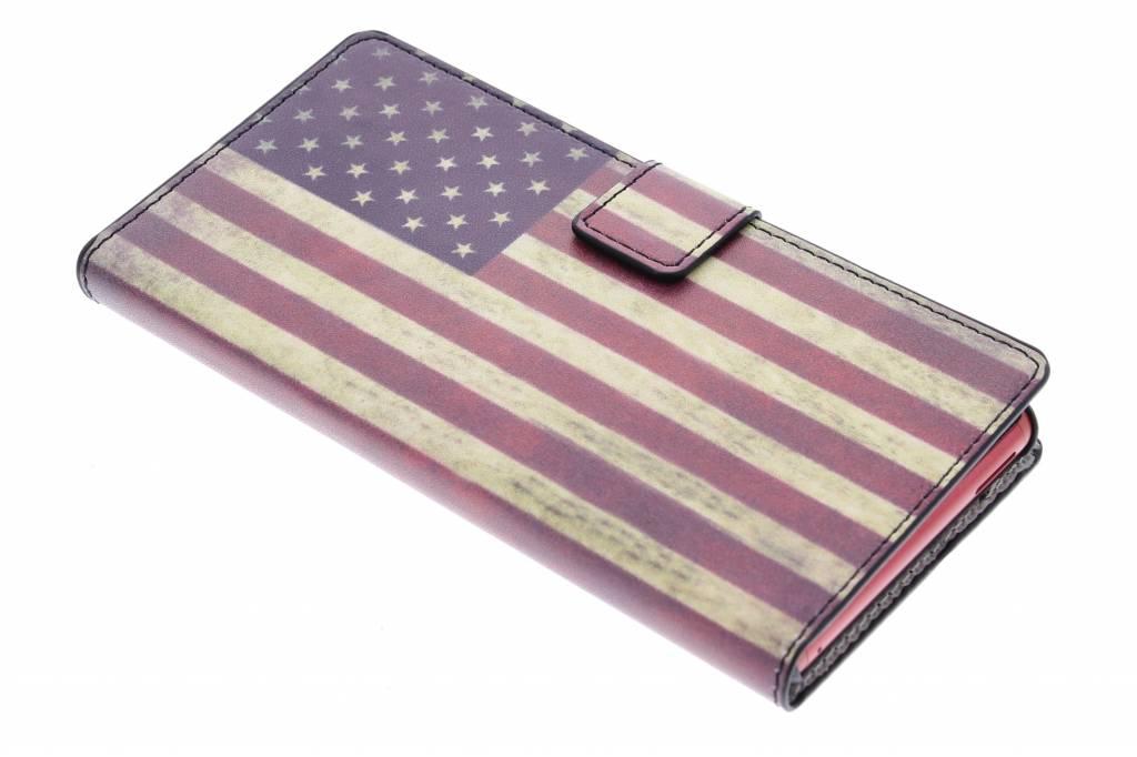 Amerikaanse vlag design booktype hoes voor de Sony Xperia M4 Aqua