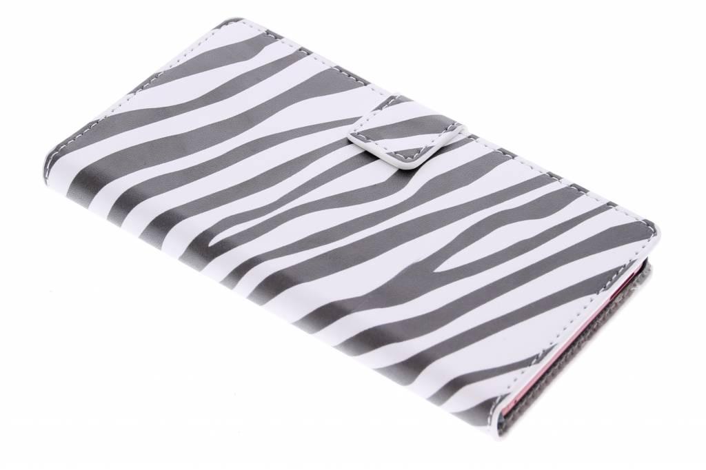 Zebra design booktype hoes voor de Sony Xperia M4 Aqua