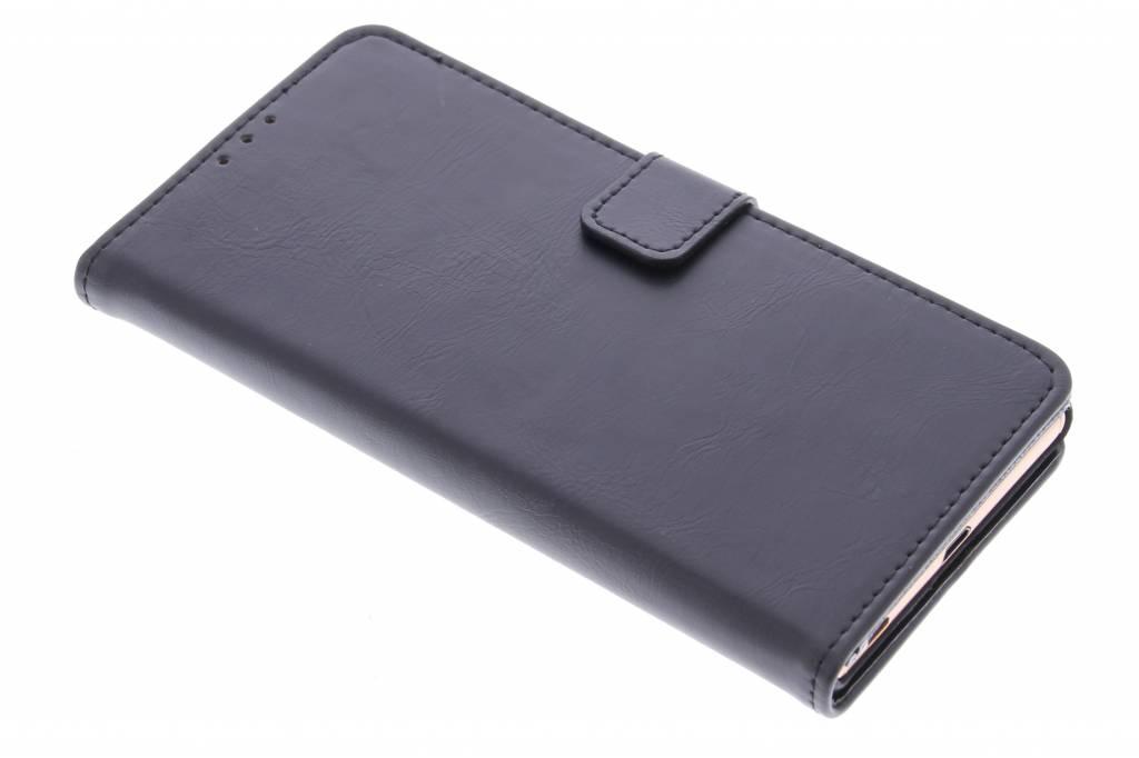Zwarte luxe leder booktype hoes voor de Sony Xperia Z3 Plus