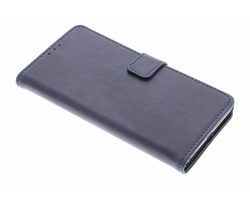 Donkerblauw luxe leder booktype hoes Xperia Z3 Plus