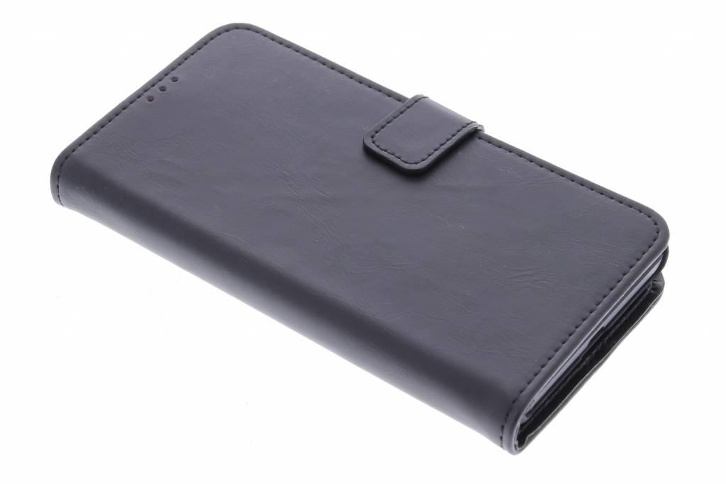 Zwarte luxe leder booktype hoes voor de Microsoft Lumia 535