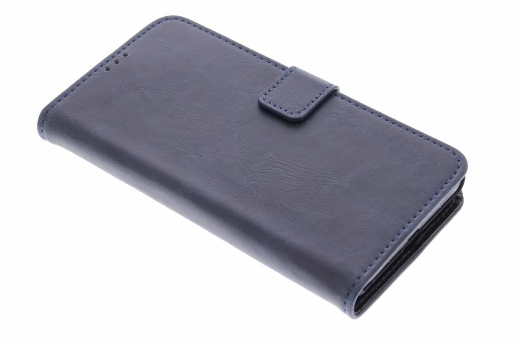 Donkerblauwe luxe leder booktype hoes voor de Microsoft Lumia 535