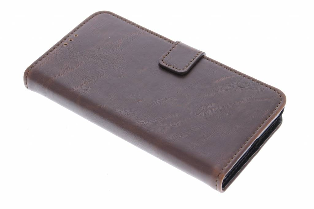 Bruine luxe leder booktype hoes voor de Microsoft Lumia 535