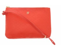 SuperTrash Serena Clutch - Grenadine & Pale Gold