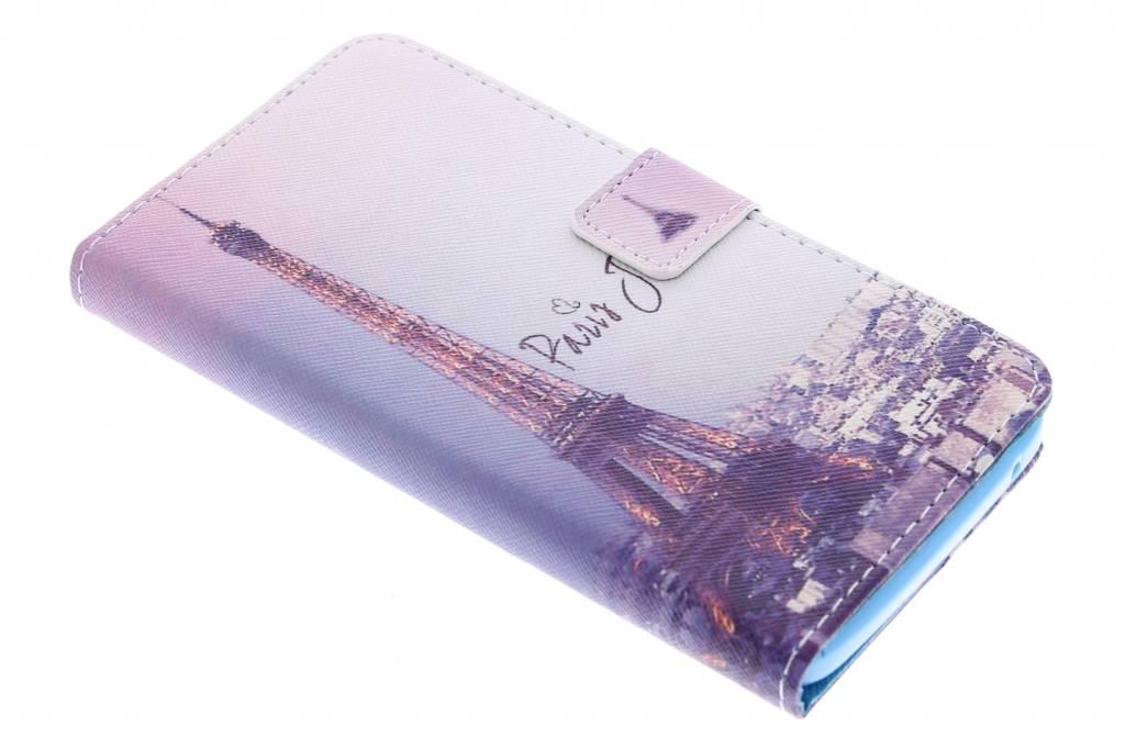 Parijs design TPU booktype hoes voor de Wiko Rainbow