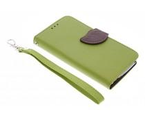 Groen blad design TPU booktype hoes Wiko Bloom