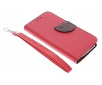 Rood blad design TPU booktype hoes Wiko Bloom