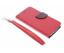 Rood blad design TPU booktype hoes Wiko Lenny