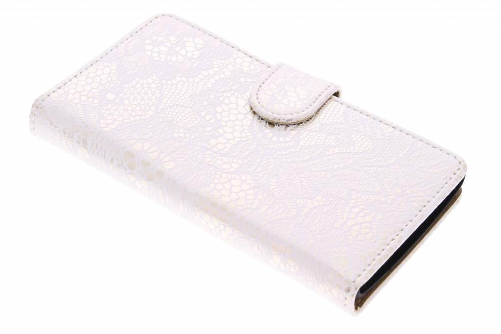 Witte glamour design booktype hoes voor de LG Magna / G4c