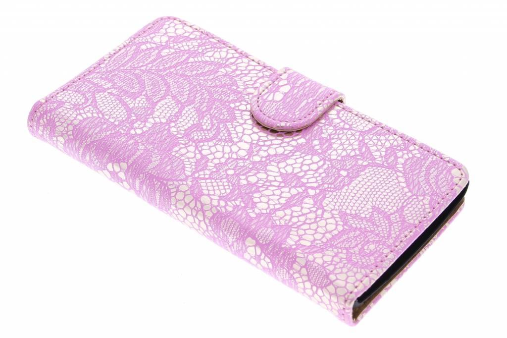Roze glamour design booktype hoes voor de LG Magna / G4c