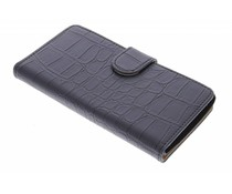 Zwart krokodillen booktype hoes LG Magna / G4c