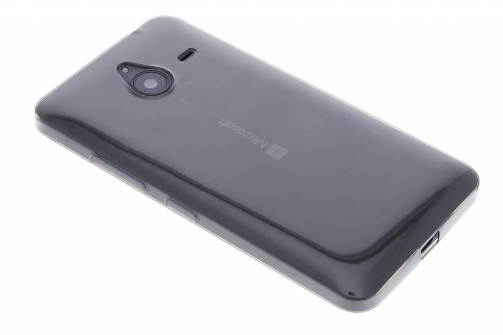 Grijs ultra thin transparant TPU hoesje voor de Microsoft Lumia 640 XL