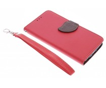 Rood blad design TPU booktype hoes LG G3