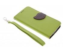 Groen blad design TPU booktype hoes LG G3