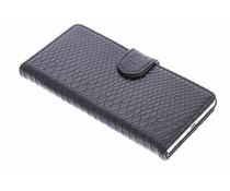 Zwart slangen booktype hoes Huawei P8