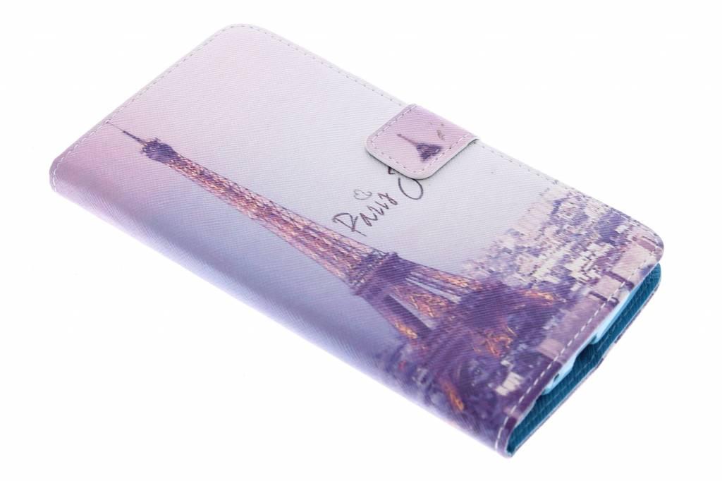 Parijs design TPU booktype hoes voor de LG G4