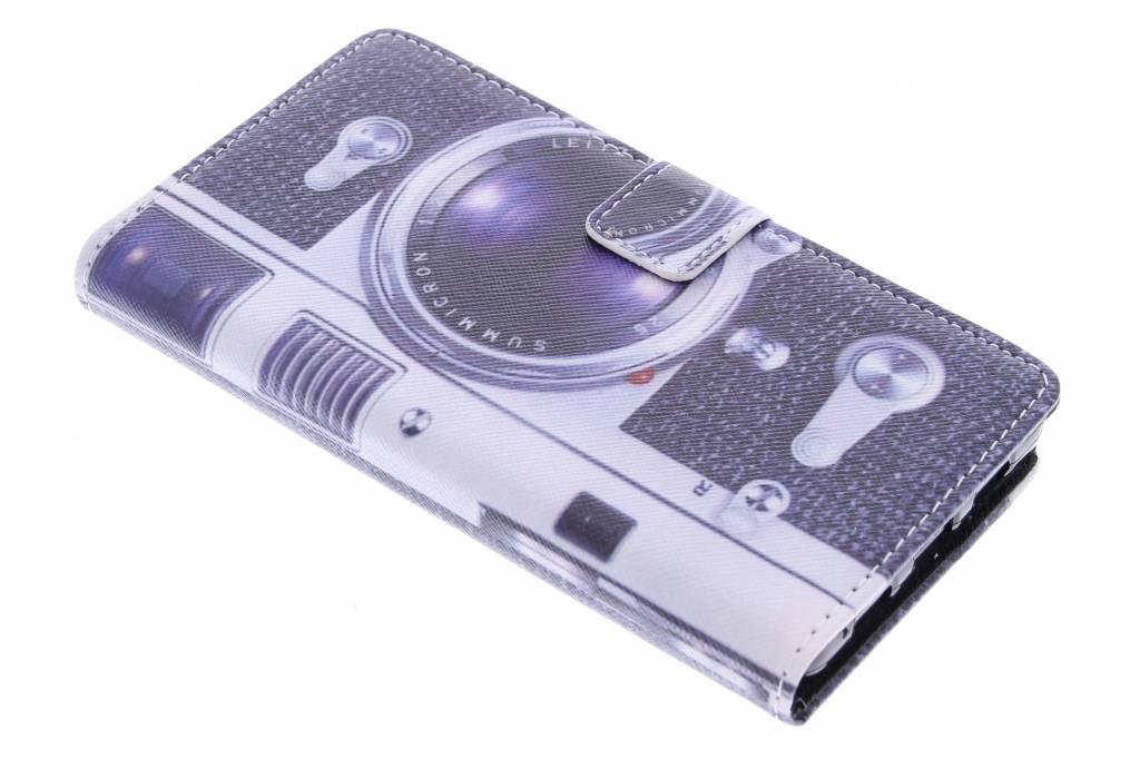 Camera design TPU booktype hoes voor de Huawei P8 Lite