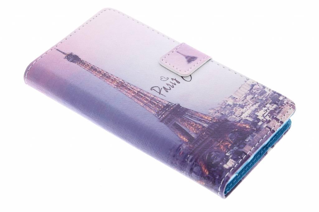 Parijs design TPU booktype hoes voor de Huawei P8 Lite