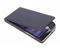 Zwart classic flipcase Huawei P8 Lite