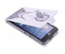 Design TPU flipcase Acer Liquid Z520