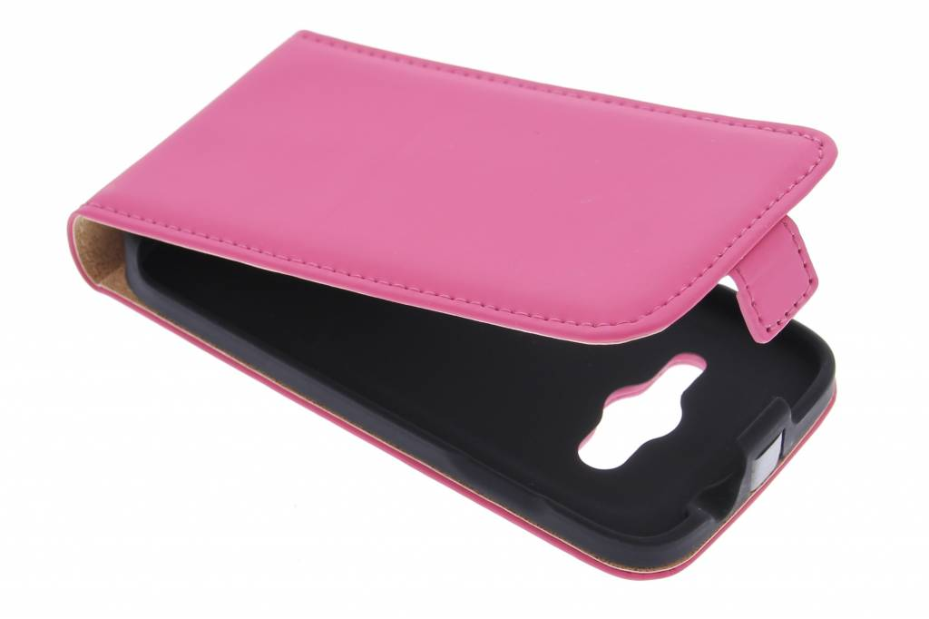 Selencia Luxe Flipcase voor de Samsung Galaxy Trend 2 (Lite) - Fuchsia